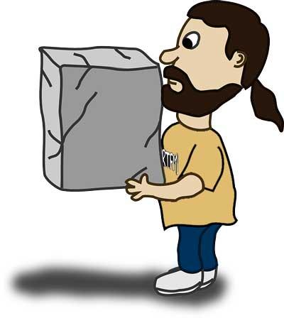 Man lifting a box
