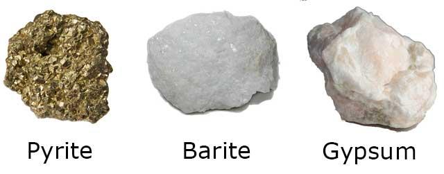 pyrite-barite-gypsum