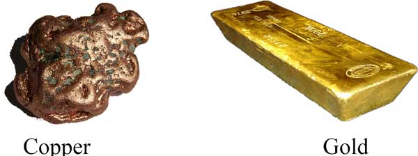 copper-gold-diamagnetic-material