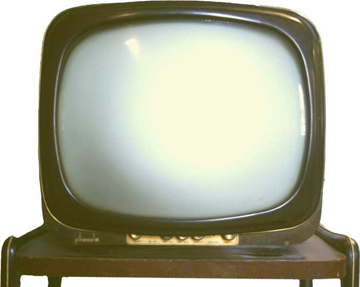 CRT-black-and-white-television