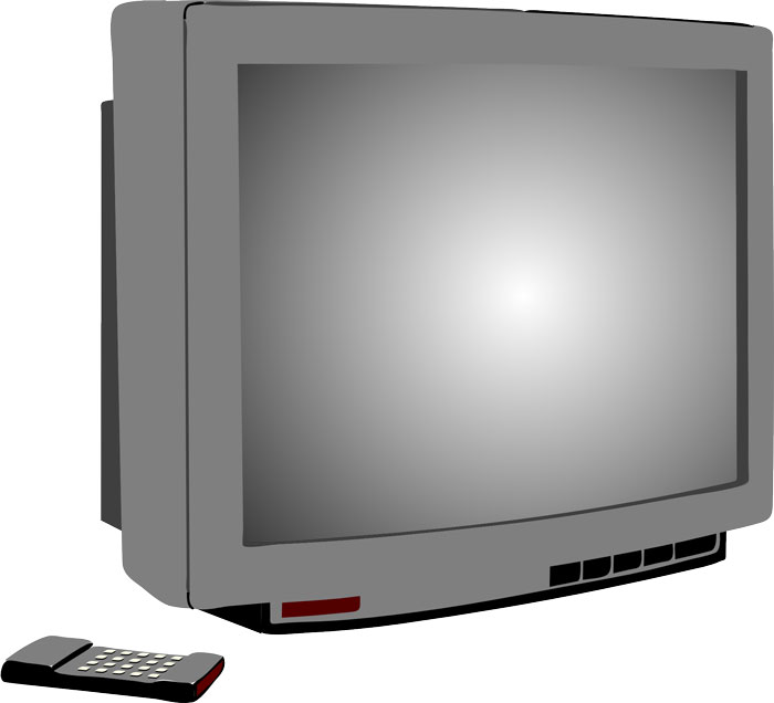 television-and-remote-controller