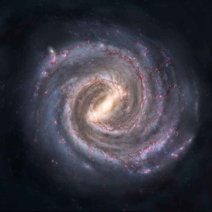 Milky-way-galaxy-spiral-shaped