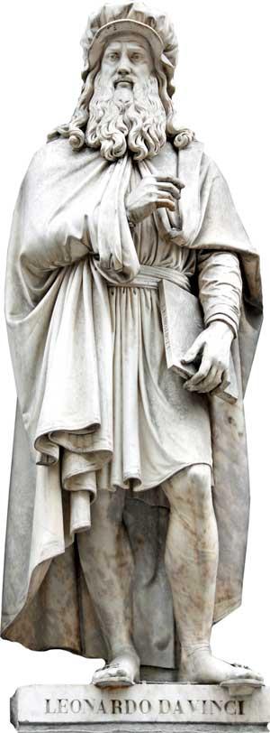 Leonardo-da-Vinci-statue